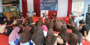 Remaja desa Bulakan terlihat sangat antusia mengikuti acara Grebeg Literasi.