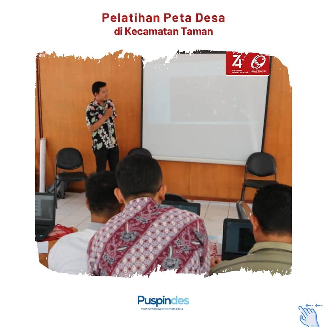 Pelatihan Peta Desa Di Kecamatan Taman | Program Pusat ...